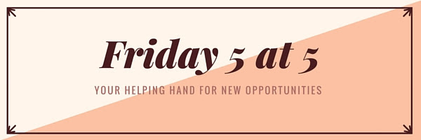 Friday 5 at 5 Nonprofit Job Bulletin